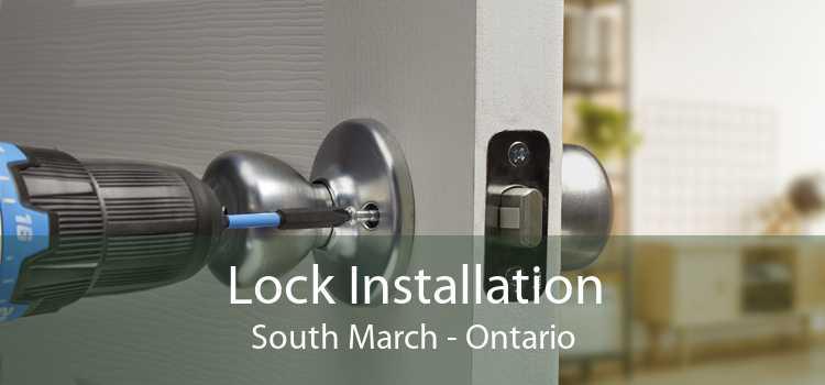 Lock Installation South March - Ontario